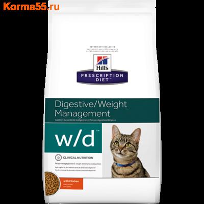 Сухой корм Hill's Prescription Diet w/d Digestive/Weight Management Feline