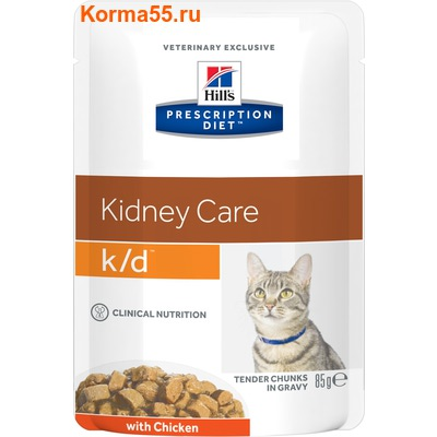 Влажный корм Hill's Prescription Diet k/d Kidney Care Feline (курица)