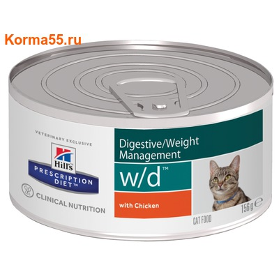 Консерва Hill's Prescription Diet w/d Digestive/Weight Management Feline
