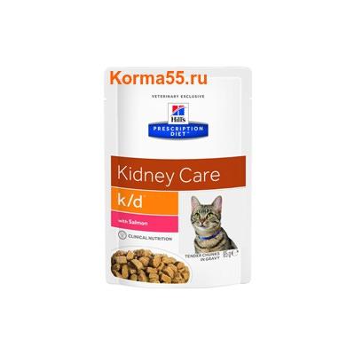 Влажный корм Hill's Prescription Diet k/d Kidney Care Feline (лосось)