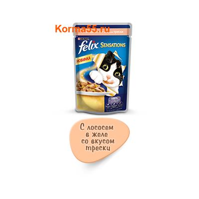 Felix Sensations лосось в желе со вкусом трески