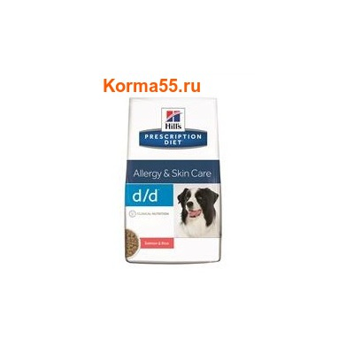 Сухой корм Hill's Prescription Diet d/d Food Sensitivities Canine (лосось/рис)