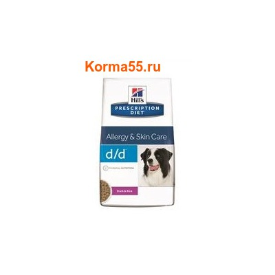 Сухой корм Hill's Prescription Diet d/d Food Sensitivities Canine (утка/рис)