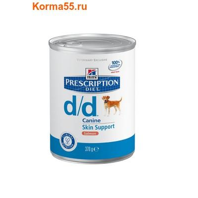 Влажный корм PD Canine d/d Salmon 12/370g (PD d/d корм д/соб аллерг (лос) 12/370г)