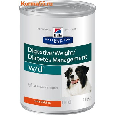Влажный корм Hill's Prescription Diet w/d Digestive/Weight Management Canine