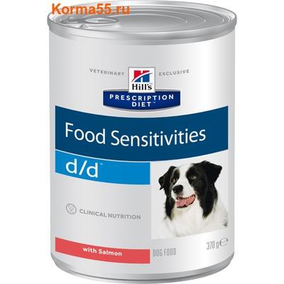 Влажный корм Hill's Prescription Diet d/d Food Sensitivities (лосось)