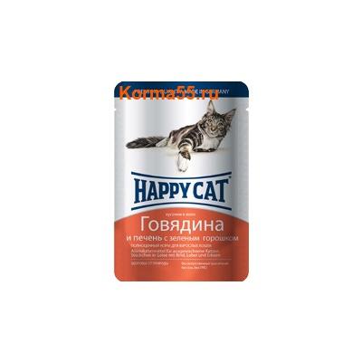 Влажный корм Happy Cat Говядина и печень