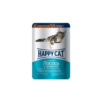 Влажный корм Happy Cat Лосось и креветки