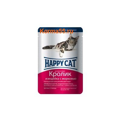 Влажный корм Happy Cat Кролик и индейка
