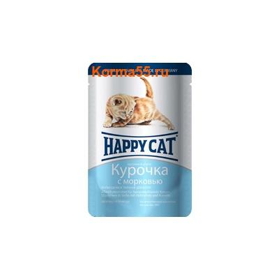 Влажный корм Happy Cat Для котят Курочка с морковью