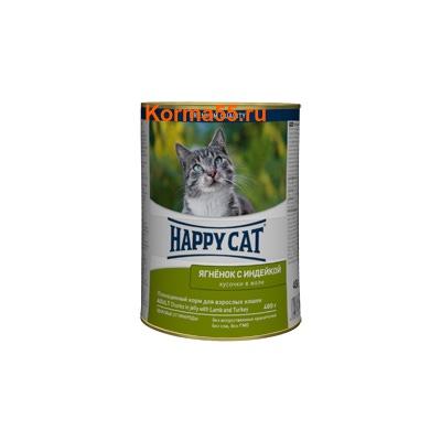 Влажный корм Happy Cat Ягненок и индейка в желе