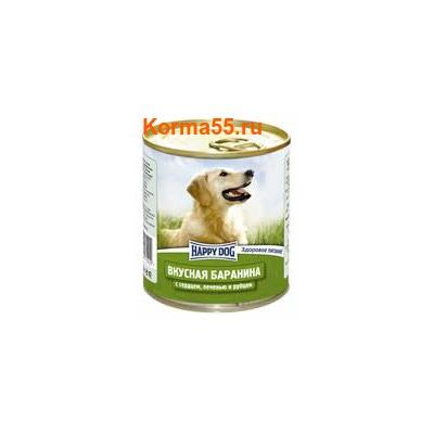 Влажный корм Happy Dog Вкусная баранина с сердцем, печенью и рубцом