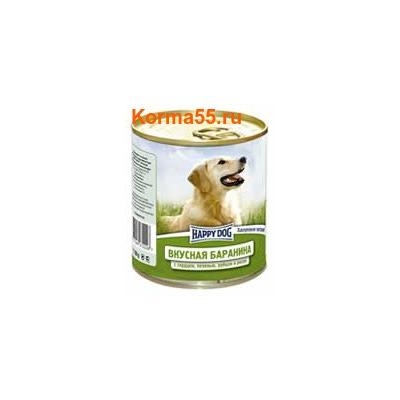 Влажный корм Happy Dog Вкусная баранина с сердцем, печенью, рубцом и рисом
