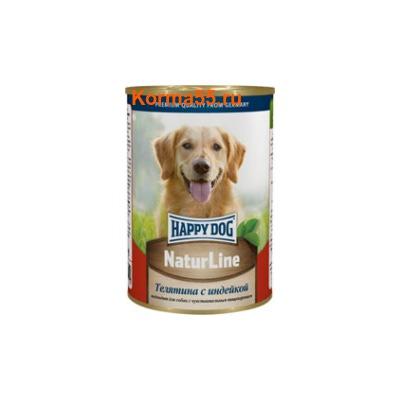 Влажный корм Happy Dog Телятина с индейкой