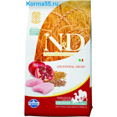 Сухой корм N&D Low Grain Chicken & Pomegranate Adult