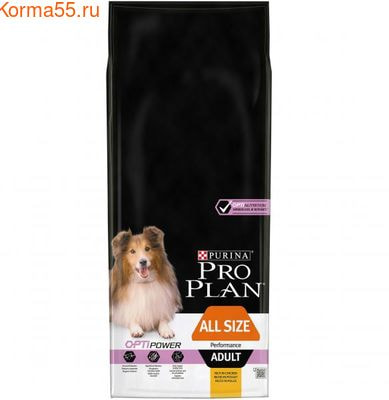 Сухой корм Pro Plan для активных собак, курица с рисом