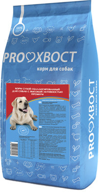 Сухой корм PROХВОСТ для собак с высокой активностью