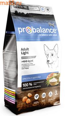 Сухой корм ProBalance Adult Light
