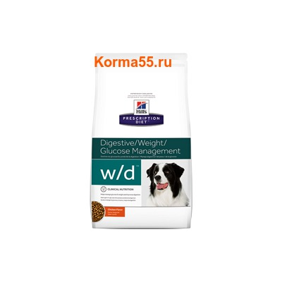 Сухой корм Hill's Prescription Diet w/d Digestive/Weight Management Canine