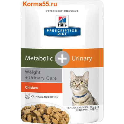 Влажный корм Hill's Prescription Diet Metabolic + Urinary Weight+Urinary Care Feline