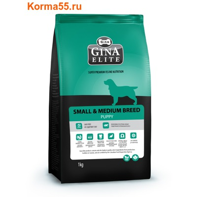 Сухой корм Gina Elite Small Puppy