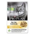 Влажный корм Pro Plan для стерилизованных кошек, курица