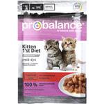 Влажный корм ProBalance Kitten 1`st Diet (с телятиной в желе)