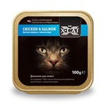 Влажный корм X-Cat Chicken & Salmon