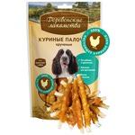 Деревенские лакомства для собак: куриные палочки крученые