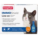 Капли Beaphar IMMO Shield Line-on от паразитов для кошек