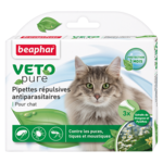 Капли Beaphar БИО VETO pure от блох, клещей и комаров для кошек