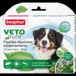 Капли Beaphar БИО VETO pure от блох, клещей и комаров для собак крупных пород