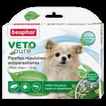 Капли Beaphar БИО VETO pure от блох, клещей и комаров для собак мелких пород