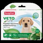 Капли Beaphar БИО VETO pure от блох, клещей и комаров для собак для щенков