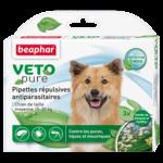 Капли Beaphar БИО VETO pure от блох, клещей и комаров для собак средних пород