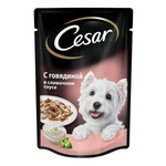 Пауч CESAR с говядиной в сливочном соусе