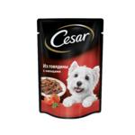 Пауч CESAR из говядины с овощами