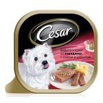 Консерва CESAR бефстроганов из говядины с сыром и укропом