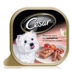 Консерва CESAR нежное патэ из говядины в овощном соусе