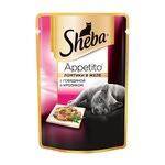Влажный корм SHEBA APPETITO с говядиной и кроликом в желе