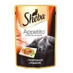 Влажный корм SHEBA APPETITO из телятины и языка в желе