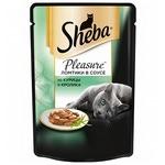 Влажный корм SHEBA PLEASURE ломтики в соусе из курицы и кролика