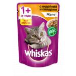Влажный корм Whiskas желе с индейкой и овощами