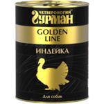 Влажный корм Четвероногий Гурман Golden с индейкой