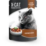 Влажный корм X-Cat с уткой и печенью в соусе