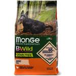 Сухой корм Monge Dog BWild GRAIN FREE Mini Anatra (утка и картофель)