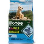 Сухой корм Monge Dog BWild GRAIN FREE Mini Adult Acciughe (анчоус, картофель и горох)