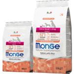 Сухой корм Monge Dog Monoprotein Extra Small Adult Salmone (лосось и рис)