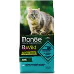 Сухой корм Monge Cat BWild GRAIN FREE Merluzzo (треска, картофель и чечевица)