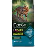Сухой корм Monge Cat BWild GRAIN FREE Sterilised Tonno (тунец)